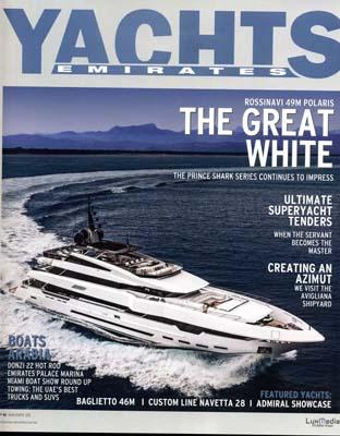 Baglietto 46 March April 2015  - Paskowsky Yacht Design